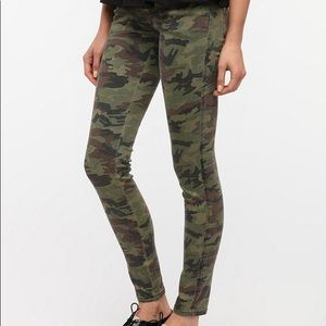 Urban Outfitters Camo Print Low Rise Skinny Jeans